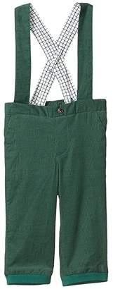 Janie and Jack Suspender Pants (Infant) (Dark Green) Boy's Casual Pants