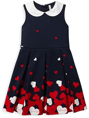 Janie and Jack Baby's, Little Girl's & Girl's Pleated Heart Dress