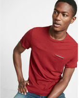 Express Printed Pocket Short Sleeve Crew Neck Tee
