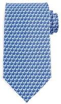 Salvatore Ferragamo Cricket-Print Silk Tie, Blue