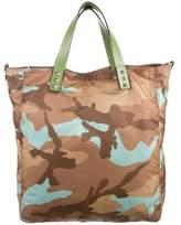 Valentino Rockstud Camouflage Nylon Tote