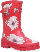 Joules Girls Red Peony Wellingtons