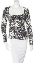 Versace Silk Abstract Print Top