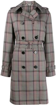 Stella McCartney checked double-breasted belted trench