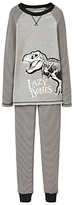 Joules Little Joule Children's Glow In The Dark Dinosaur Pyjamas, Grey