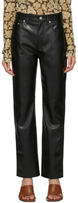 Nanushka Black Vegan Leather Vinni Trousers