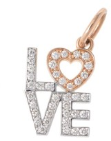 Tiffany & Co. 18K White and Pink Gold Diamonds Love Charm