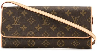 Louis Vuitton 2001 Logo Print Crossbody Bag