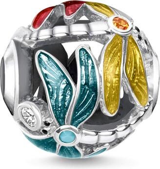 Thomas Sabo ladies-Bead ornament turquoise & black 925 Sterling silver blackened K0324-878-7