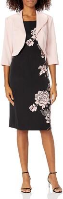 Maya Brooke Women's Side Floral Print Jacket Dress