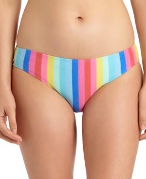 California Waves Juniors' Shiny Rainbow Hipster Bikini Bottoms, Created for Macy's Women's Swimsuit
