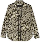 Equipment Leema Floral-print Silk-georgette Shirt