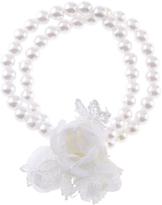 Monsoon Triple Rose Lace Pearl Bracelet