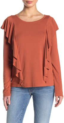 Frye Long Sleeve Ruffle Top