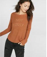 Express not likely shirttail hem sweater