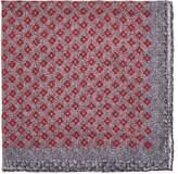 Paolo Albizzati Men's Diamond-Print Wool Pocket Square