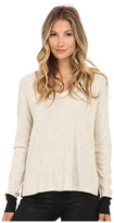 Three Dots Long Sleeve Raglan V-Neck