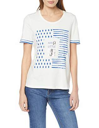 Gerry Weber Women's 170304-35114 T - Shirt, White 99700, (Manufacter Size: 44)