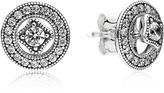 Pandora Earrings - Sterling Silver & Cubic Zirconia Detachable Studs