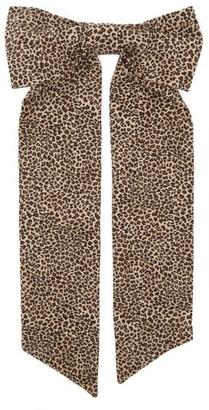 Shrimps Fortuna Leopard-print Oversized Bow Hair Clip - Leopard