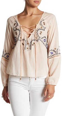 Raga Blouson Sleeve Beaded Blouse