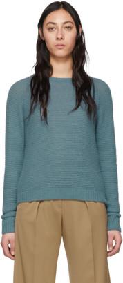 Max Mara Blue Cashmere and Silk Ciad Sweater