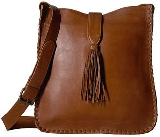 Scully Maria Whipstitch Bucket Bag w/ Tassel (Brown) Handbags