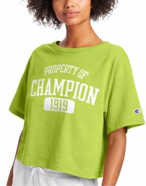Champion Women's Heritage Cotton Cropped T-Shirt