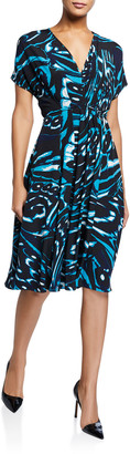 Diane von Furstenberg Cardea Printed Short-Sleeve Dress