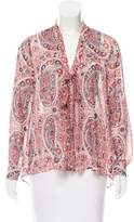 Alice + Olivia Paisley Print Long Sleeve Blouse
