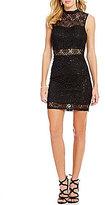 Xtraordinary Illusion Inset Lace Sheath Dress