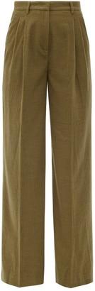 Gabriela Hearst Sonia Cashmere-corduroy Wide-leg Trousers - Tan