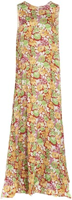 Plan C Floral Printed Maxi Dress