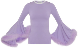 George Keburia Cornelia Feather-Trimmed Top