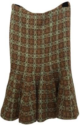 Roberto Cavalli Brown Wool Skirt for Women
