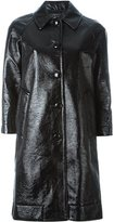 Marc Jacobs single breasted pleather coat