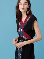 Diane von Furstenberg Wrap Kimono Top