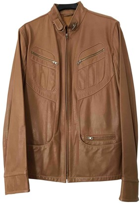 Fay Camel Leather Leather Jacket for Women