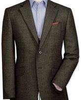 Charles Tyrwhitt Classic fit olive birdseye lambswool jacket
