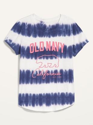 Old Navy EveryWear Logo-Graphic Slub-Knit Tee for Women