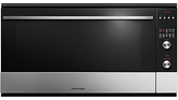 Fisher & Paykel OB90S9MEPX3 Built-In Single Electric Oven, Stainless Steel / Black Glass
