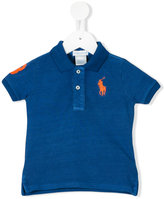 Ralph Lauren side slits polo shirt - kids - Cotton - 3 mth