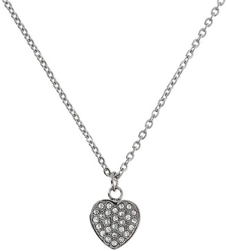 Steel by Design Crystal Heart Pendant w/ Chain