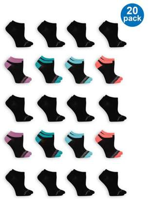 Fruit of the Loom Everyday Flat Knit No Show Ladies Socks
