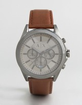 Armani Exchange AX2605 Chronograph Leather Watch Exclusive To ASOS