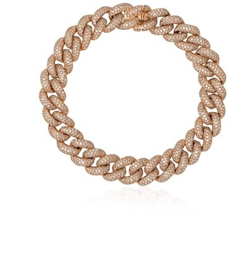 Shay 18kt Gold And Diamond Link Bracelet