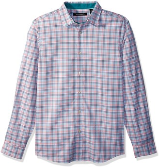 Axist Men's Long Sleeve Slim Medium Plaid Woven