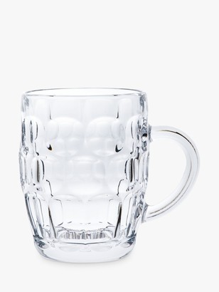 John Lewis & Partners Cellar Dimpled Glass Tankard, Clear, 570ml