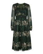 Ted Baker Delyla Meadow Sweep Long Sleeved Midi Dress