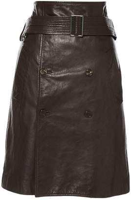 Jean Paul Gaultier Brown Leather Skirts
